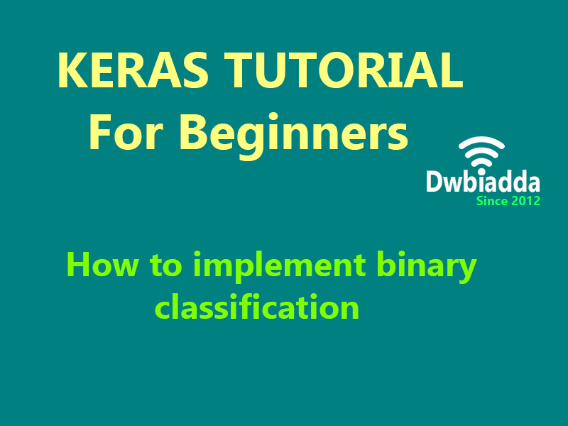 how to implement binary classification using keras