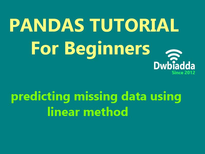 predicting missing data using linear method python pandas