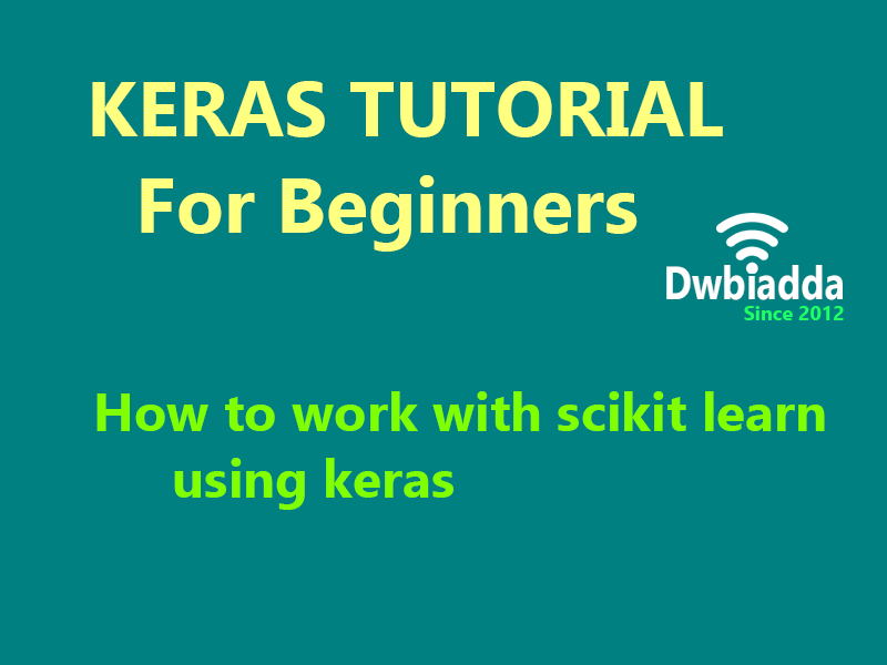 how to work with scikit learn using keras