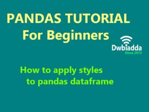 how to apply styles to pandas dataframe