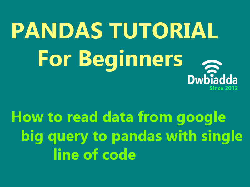 how to read data from google big query to python pandas with single line of code