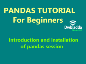 introduction installation of pandas session