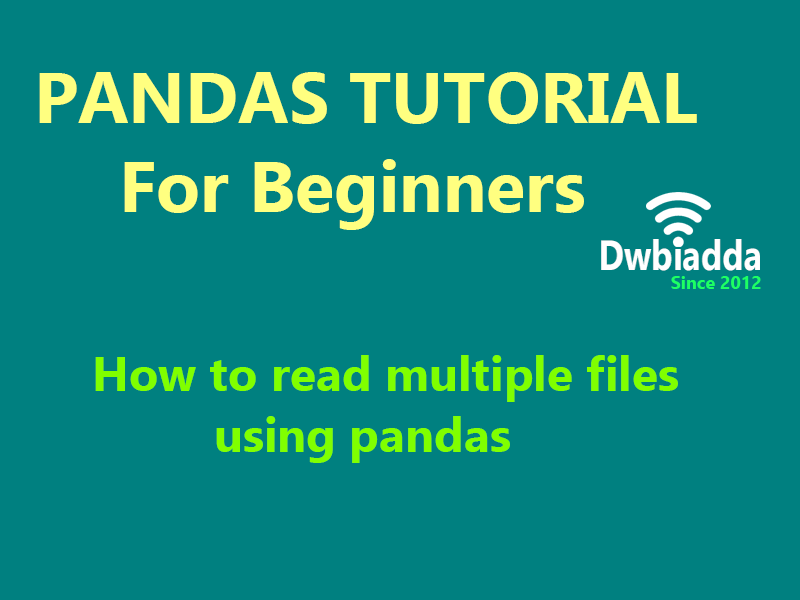 how to read multiple files using python pandas