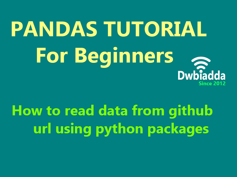 how to read data from github url using python packages
