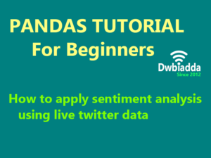 how to apply sentiment analysis using live twitter data