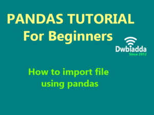 importing file using python pandas
