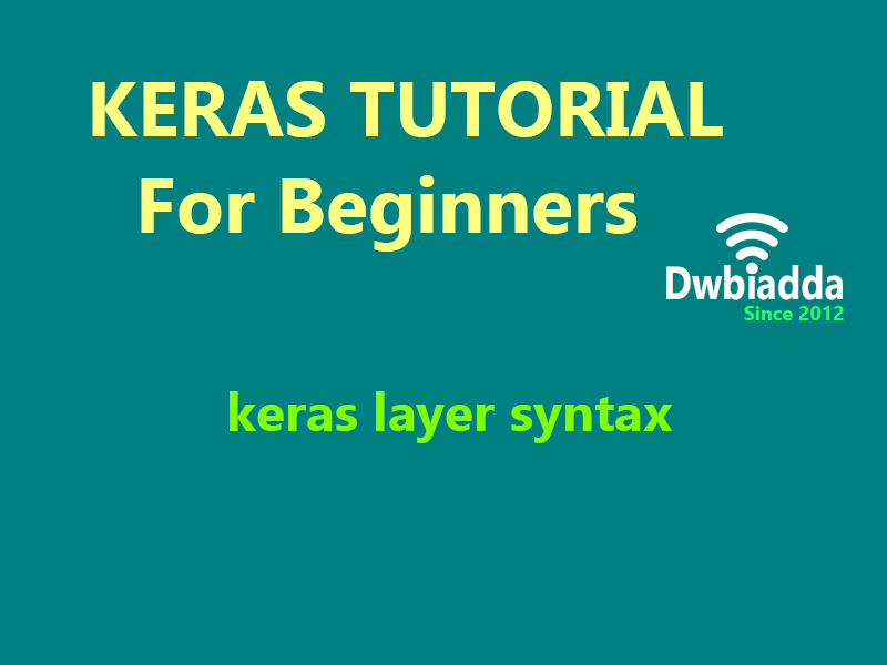 keras layer syntax