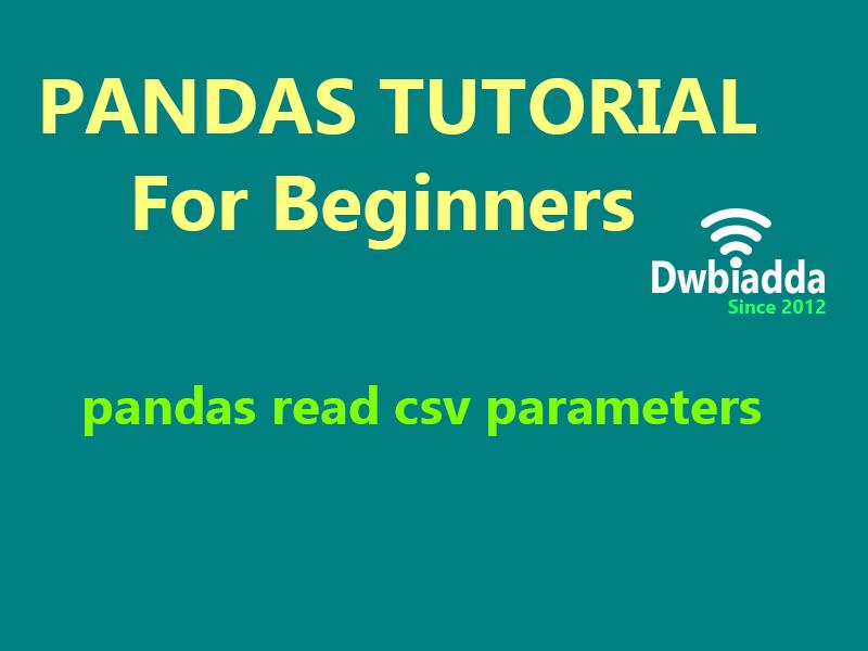 python pandas read csv parameters