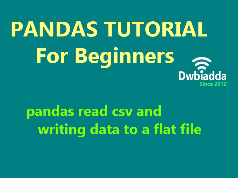 python pandas read csv and writing data to a flat file