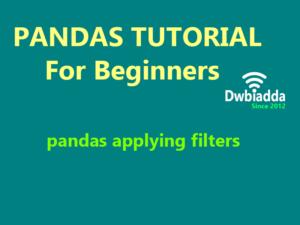 applying filter using pandas