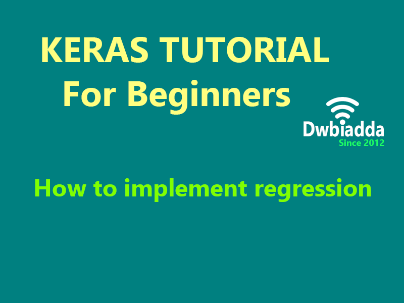 how to implement regression using keras